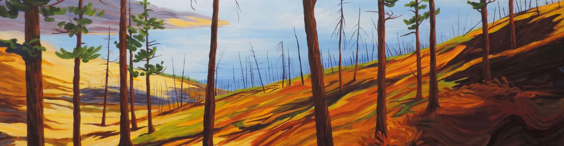 Acrylic paint of the Goats Peak by Linda Lovisa.