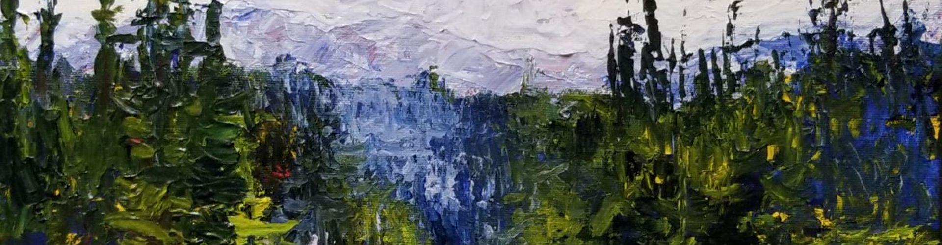 Silver Star painting by Linda Lovisa