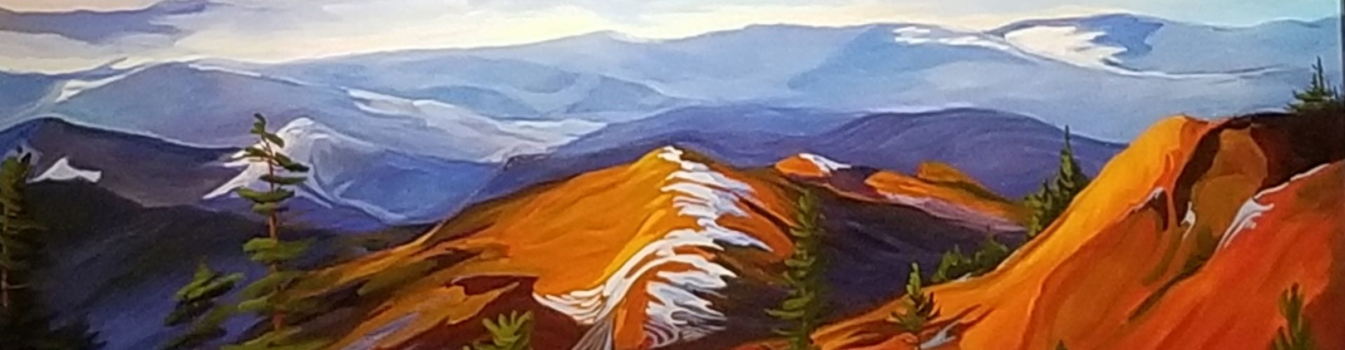 A View From Here painting by Linda Lovisa