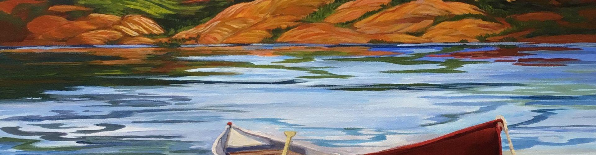 An Okanagan Summer painting by Linda Lovisa