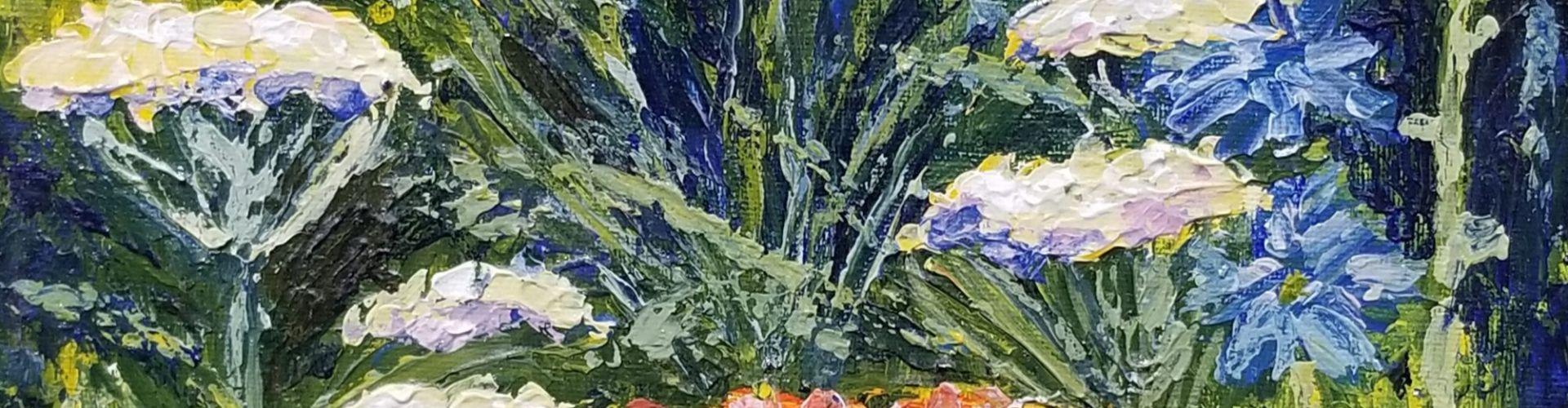 Meadow Flowers painting by Linda Lovisa