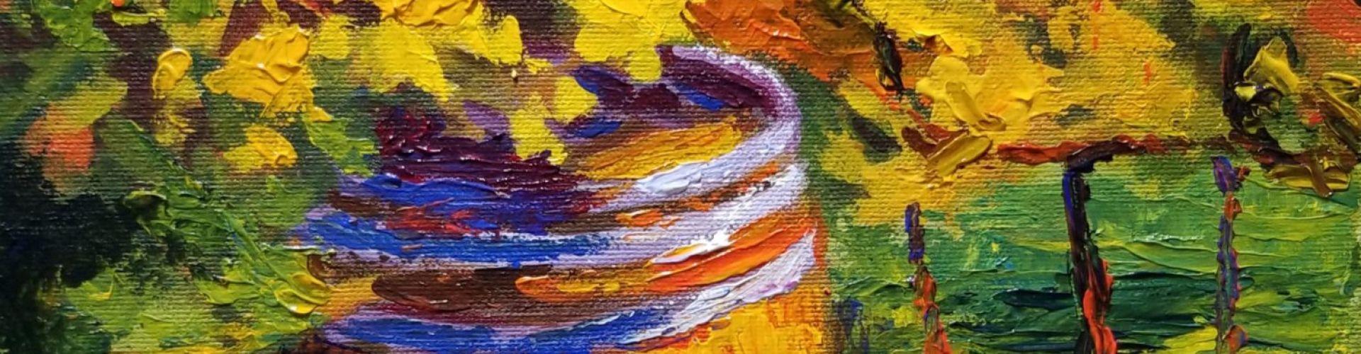 Barrel in the Vines painting by Linda Lovisa