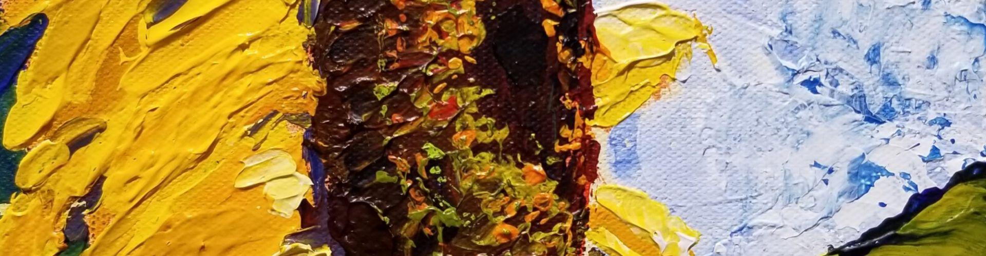 Sunflower painting by Linda Lovisa