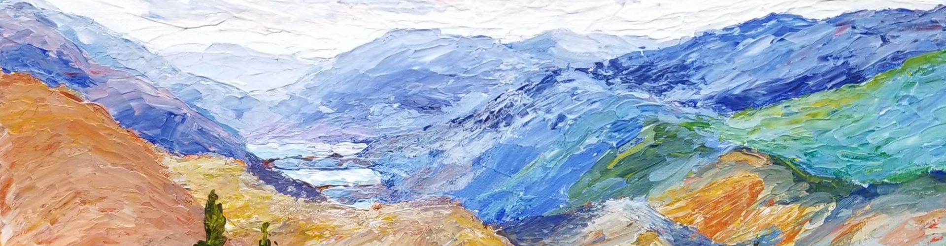 Valley View painting by Linda Lovisa
