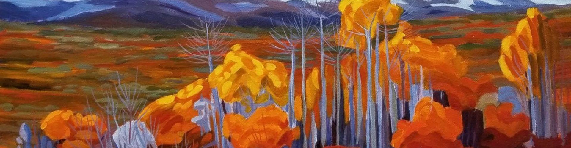 Poplar Stand painting by Linda Lovisa