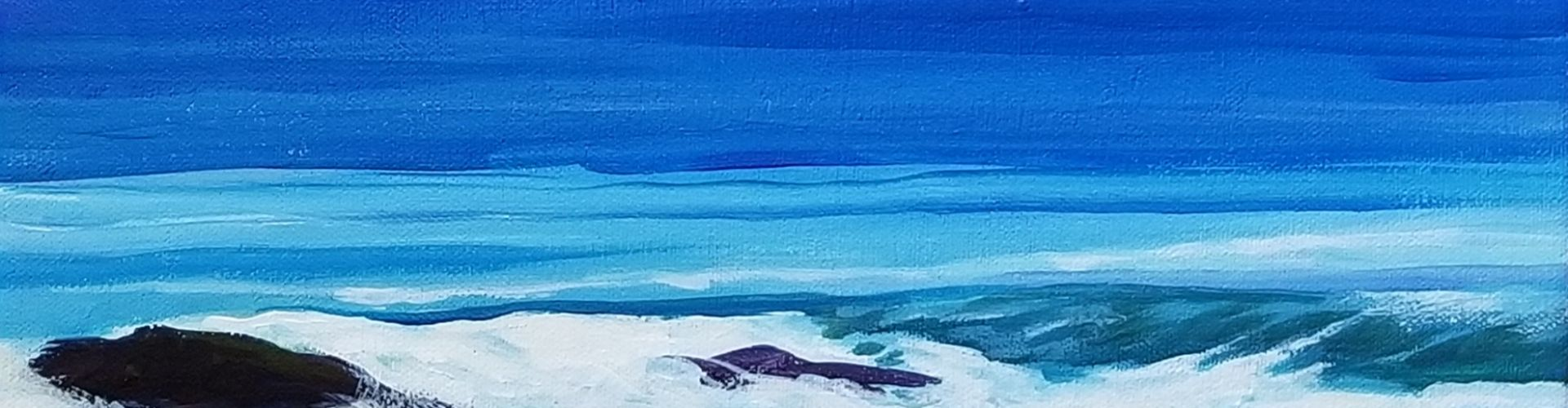 A Pacific Day painting by Linda Lovisa