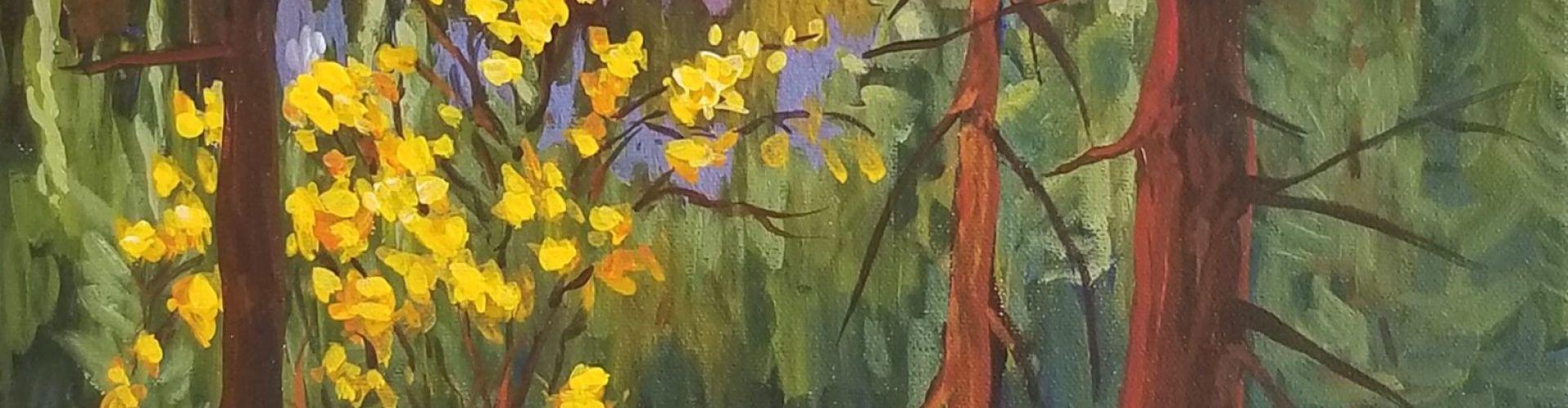 High Rim Trail painting by Linda Lovisa