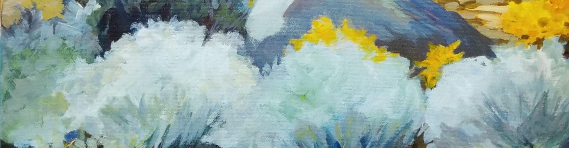 Sage Brush painting by Linda Lovisa