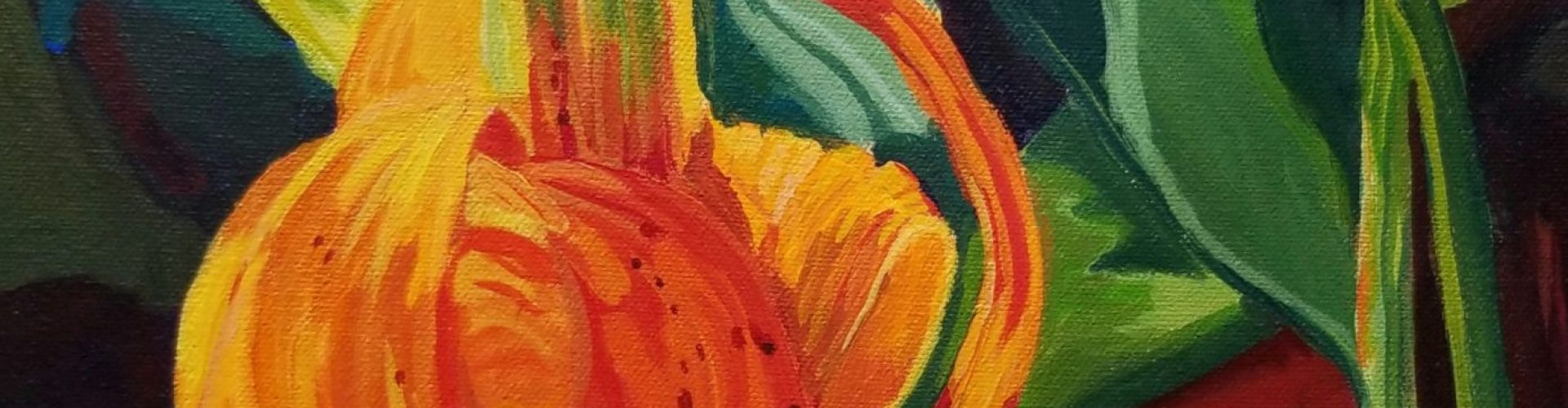 Woodland Lily painting by Linda Lovisa