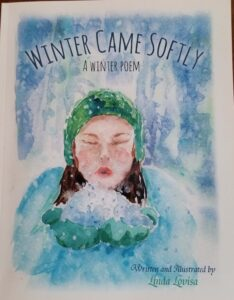 Winter Came Softly illustrated poem cover page